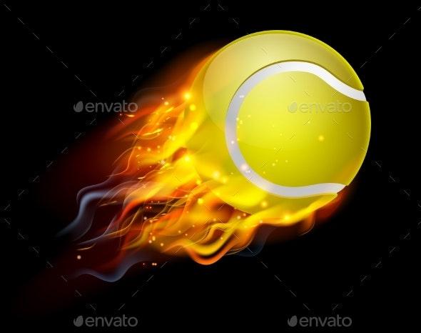 Tennis Ball on Fire.