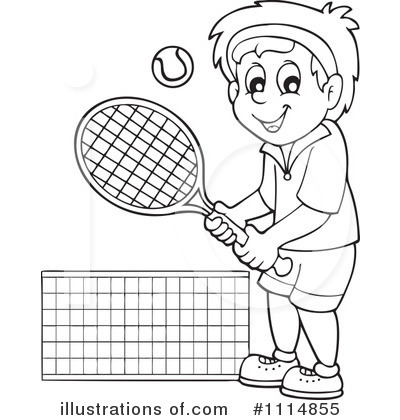 Tennis Clipart Black And White.