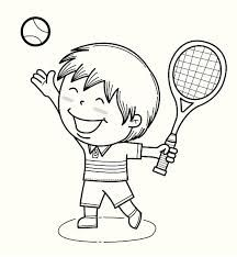 Image result for tennis player clipart black and white.