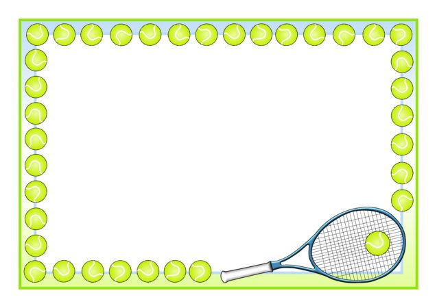 9 Tennis clipart border for free download on YA.