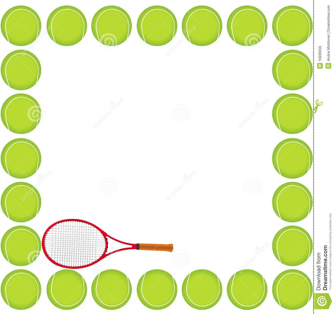 Tennis Borders Free Clipart.