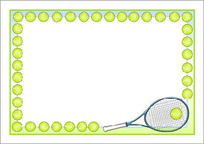 Tennis A4 page borders (SB11017).