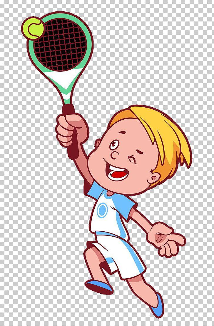 Play Tennis Cartoon PNG, Clipart, Area, Boy, Cartoon.