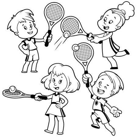 Playing tennis clipart black and white » Clipart Portal.