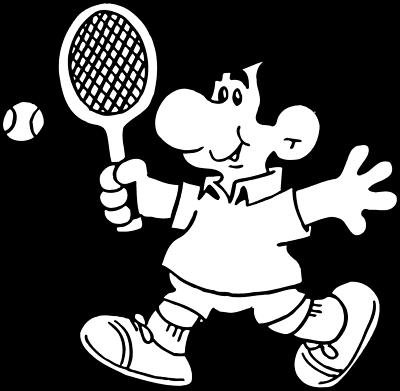 Black Tennis Cliparts.
