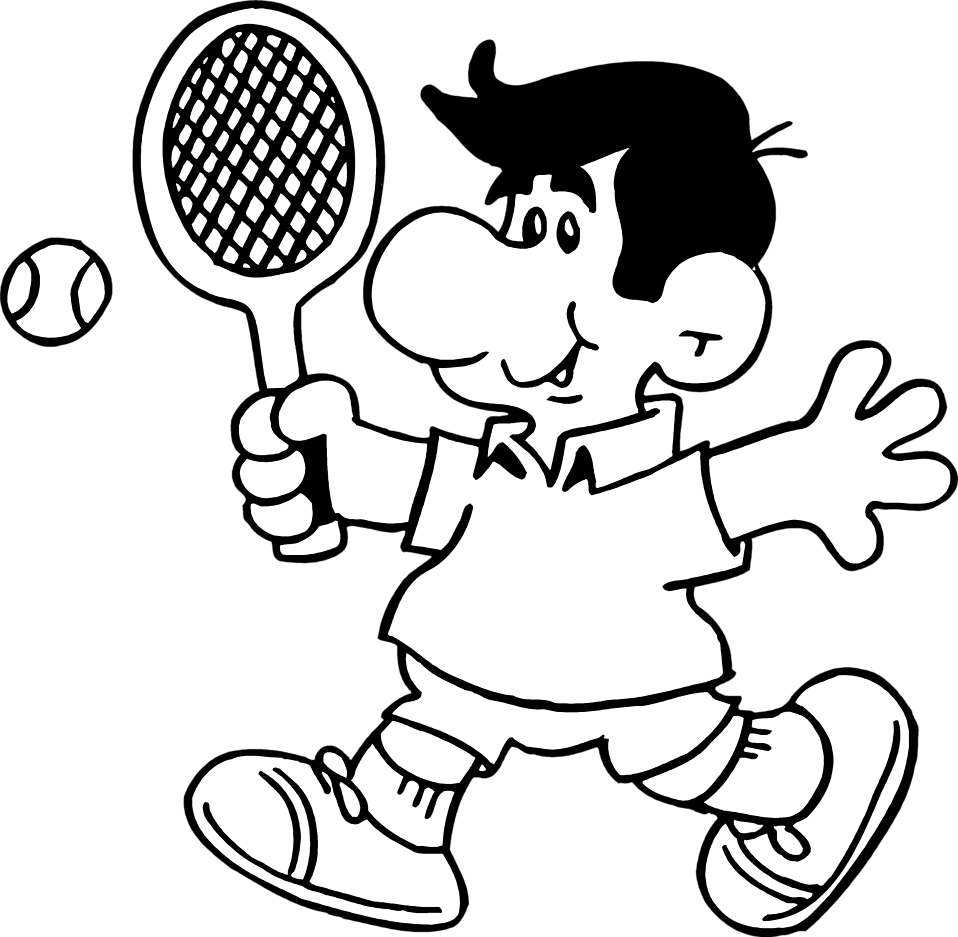 Free Tennis Black And White Clipart, Download Free Clip Art.