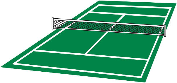 Tennis Court Outline.