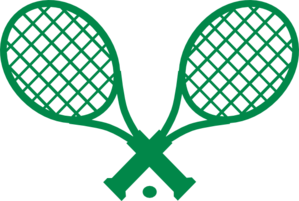 Preppy Double Green Tennis Racquet Clip Art at Clker.com.