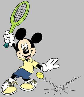 Disney Tennis, Badmington Clip Art Images.