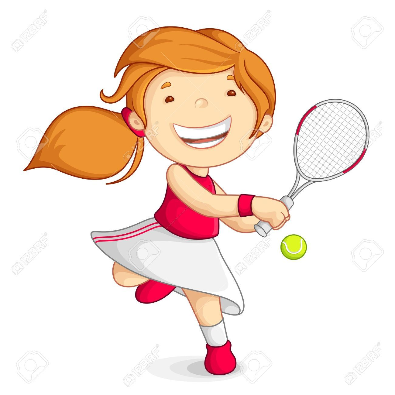 Tennis girl clipart 2 » Clipart Portal.