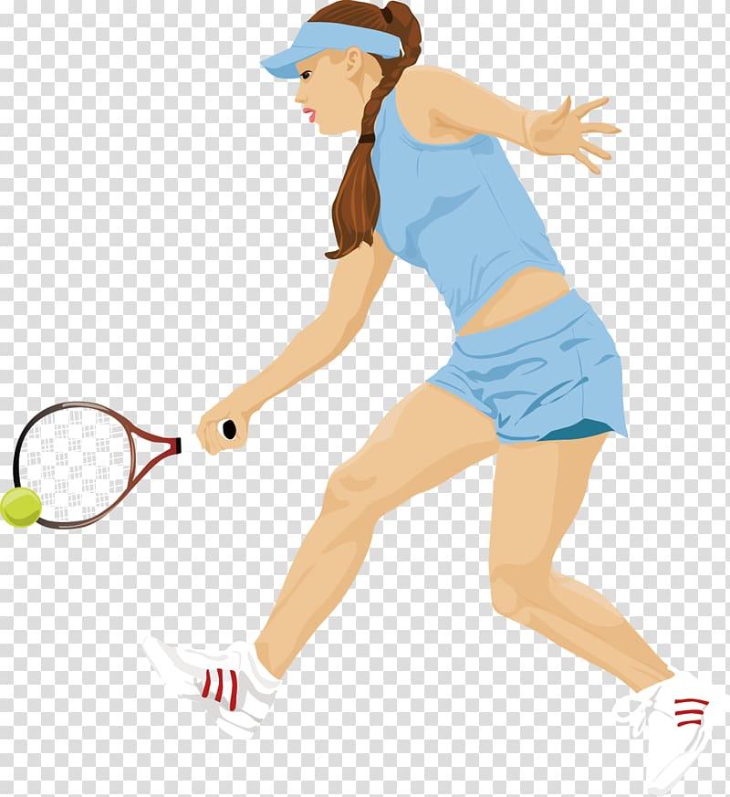 Tennis Girl Badminton, Tennis transparent background PNG.