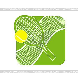 Stock Tennis Logo with Tennis Net.