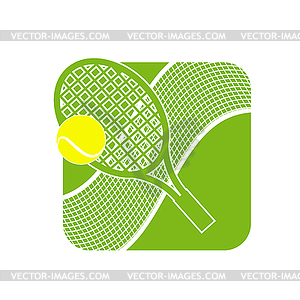 Stock Tennis Logo with Tennis Net.