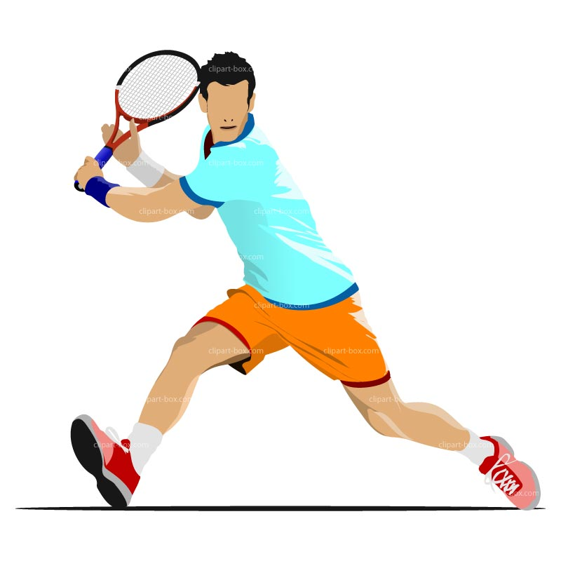 Tennis Player Clipart.
