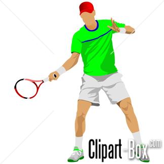CLIPART TENNIS PLAYER.