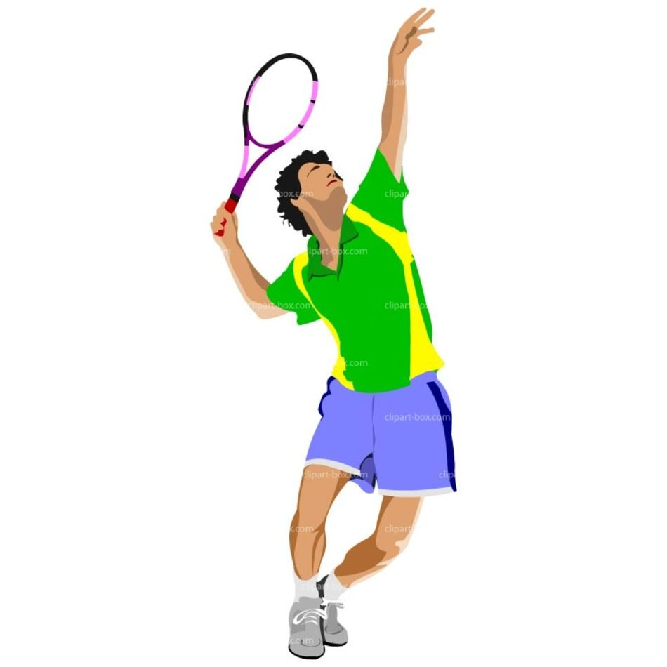 Tennis Player Clip Art N24 free image.
