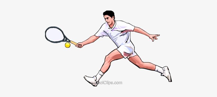 Tennis Player Royalty Free Vector Clip Art Illustration.
