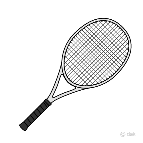 Tennis Racket Clipart Black And White (97+ images in.