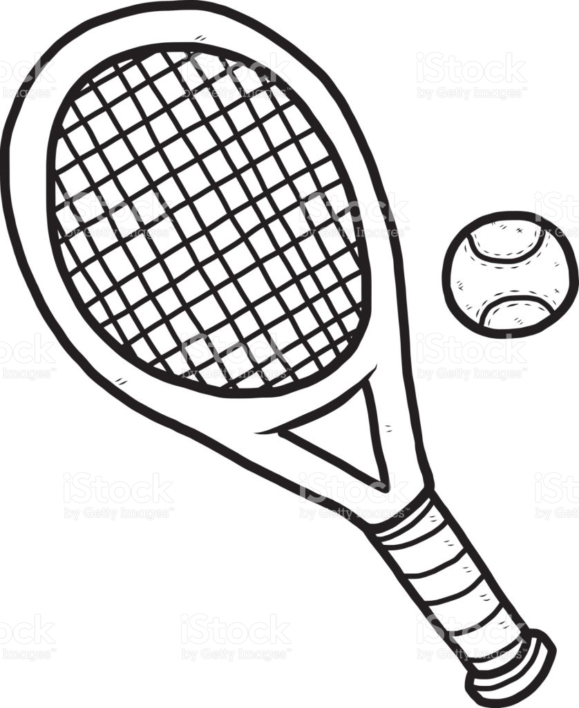 Tennis racket clipart black and white 2 » Clipart Station.