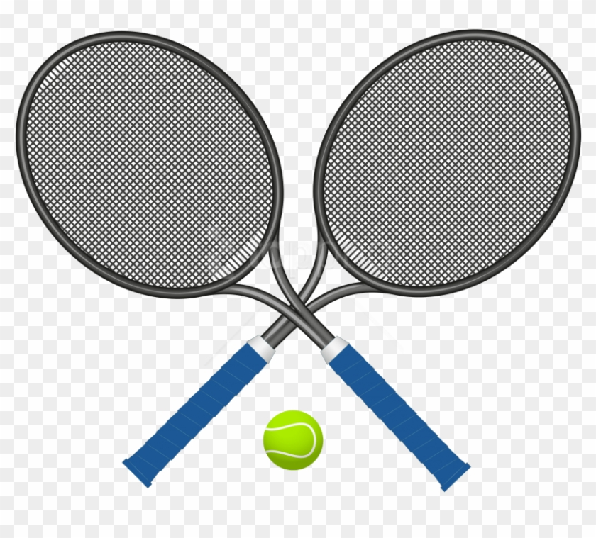 Free Png Download Tennis Rackets With Ball Clipart.