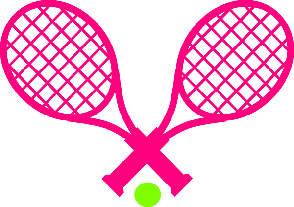 Tennis Racket Clipart Pink Girl.