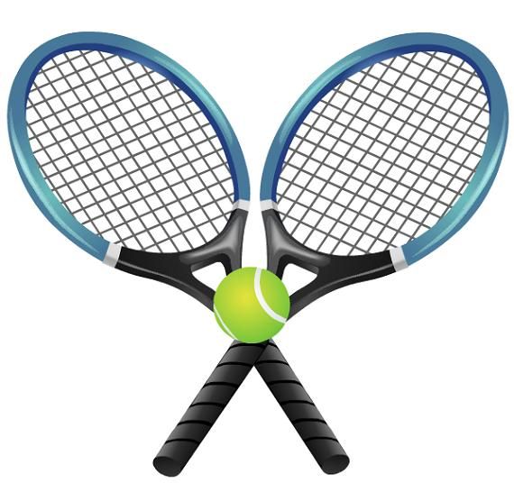 Pink Cartoon Tennis Racket.