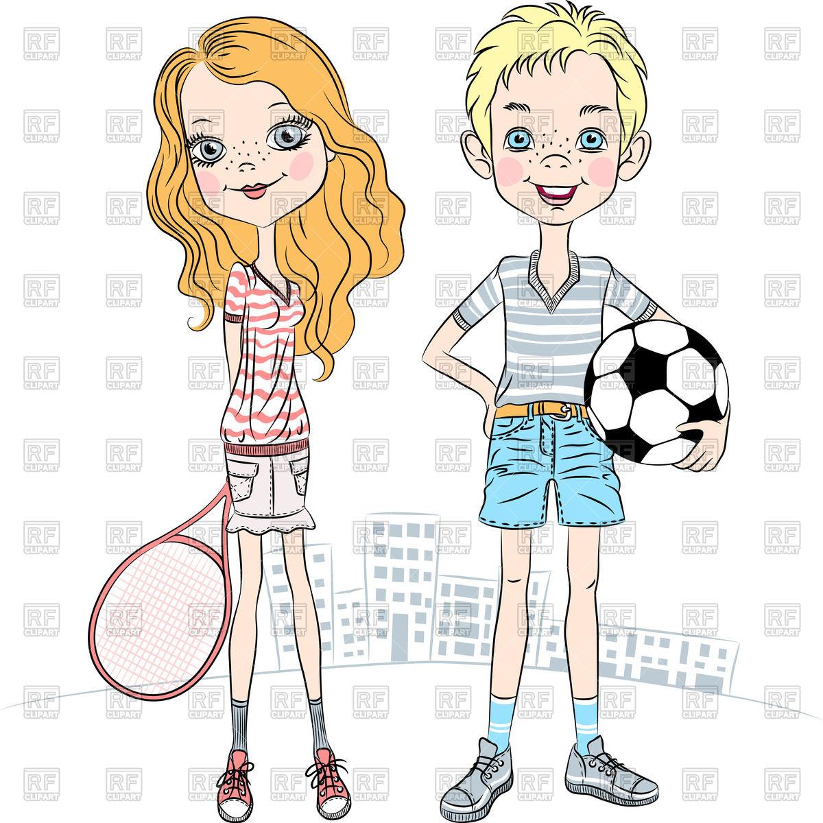 Tennis Racket Clipart Girl.