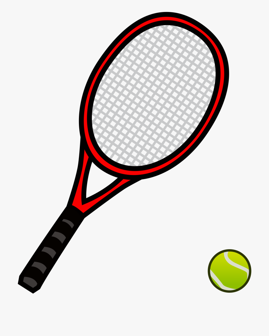 Tennis Racket And Ball 29, Buy Clip Art.