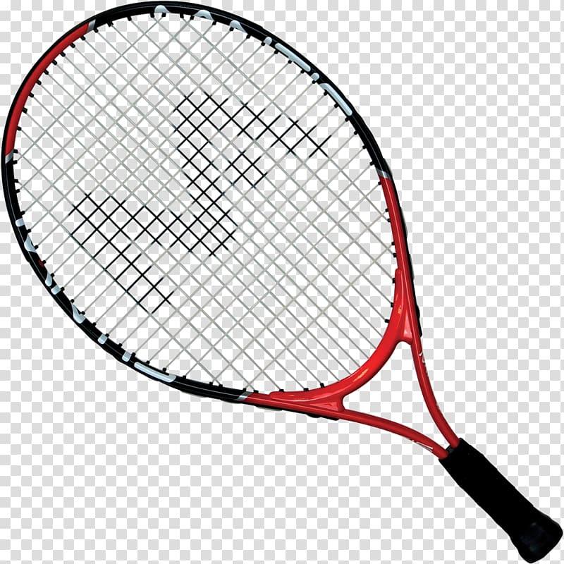 Red and black tennis racket, Racket Tennis ball Babolat.