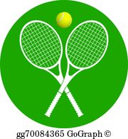 Tennis Rackets And Ball Clip Art.