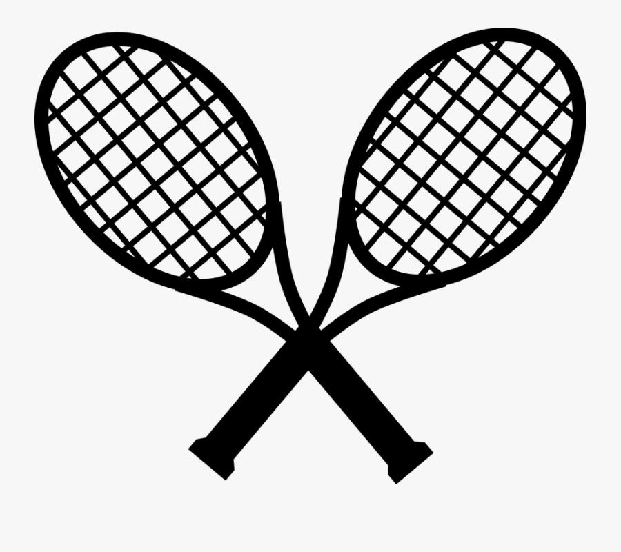 Tennis, Black, Two, Sports, Racket, Racquets, Crossing.