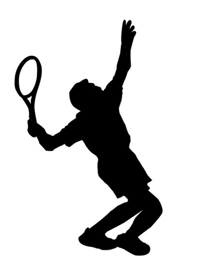 Tennis Player Clipart.