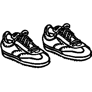 tennis shoe clipart clipground