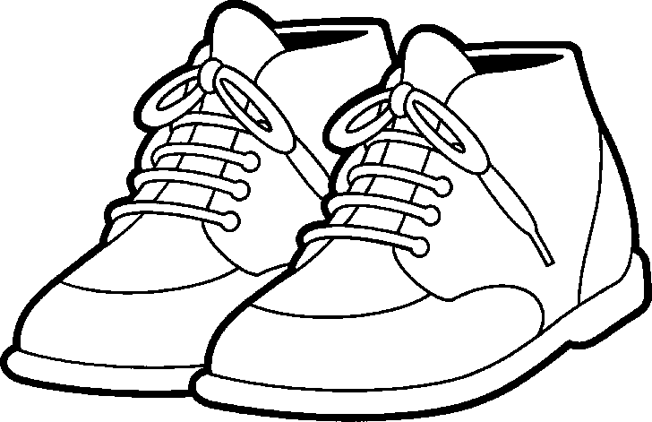 Tennis shoes clipart black and white free 5.