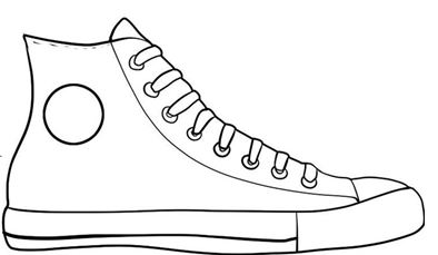 Tennis shoe bottom clipart.