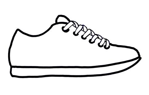 Free Tennis Shoes Clipart Black And White, Download Free.
