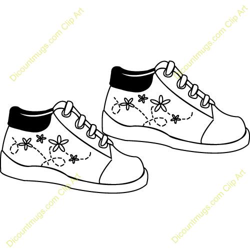 Walking Tennis Shoes Clipart.