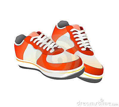 Nike Custom Red Walking Shoes