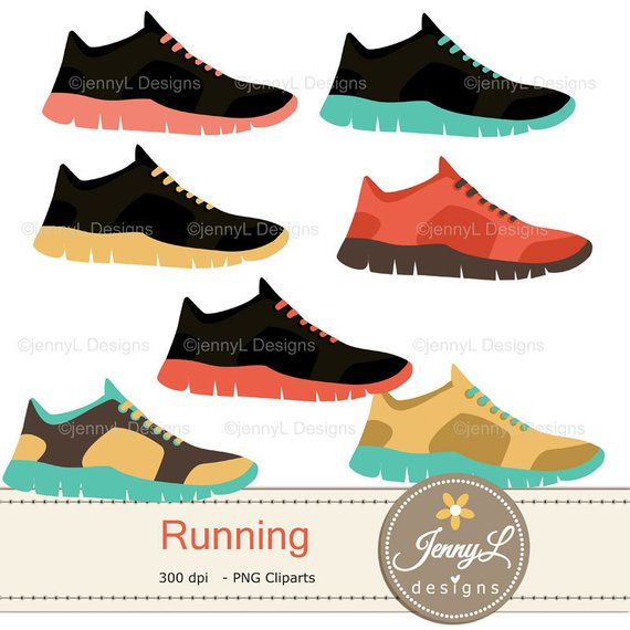 Running Digital Papers and Clipart SET, Sports, Exercise.