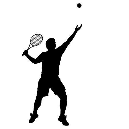 Tennis clipart silhouette.