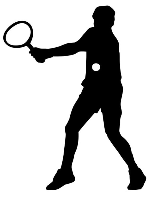 Silhouette Sport Tennis Clip art.
