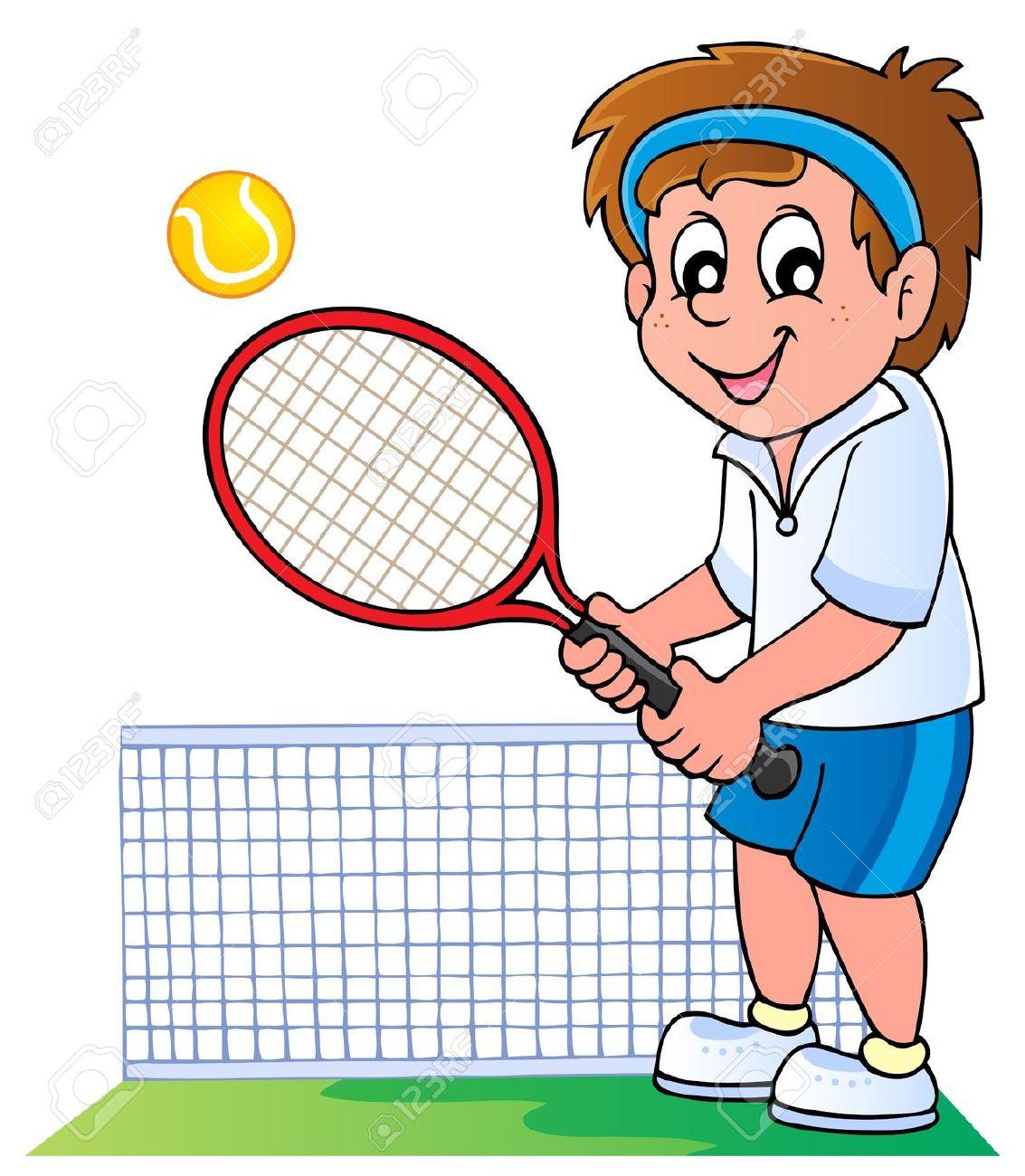 Cartoon Tennis Player.