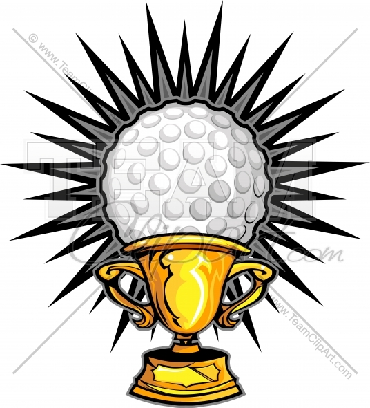 Golf Trophy Clipart.