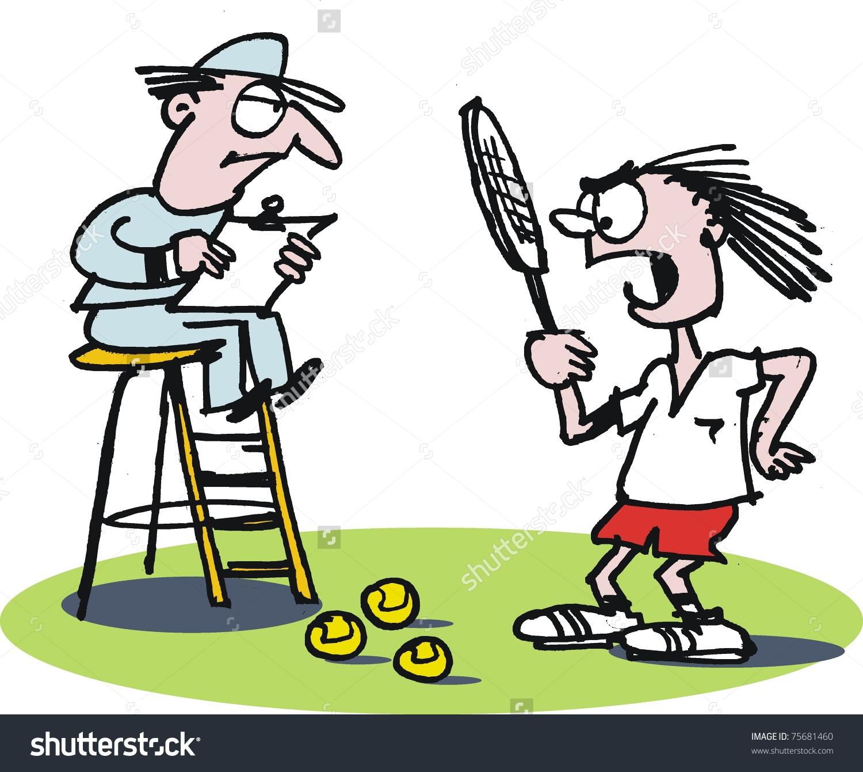 Tennis Umpire Clipart.