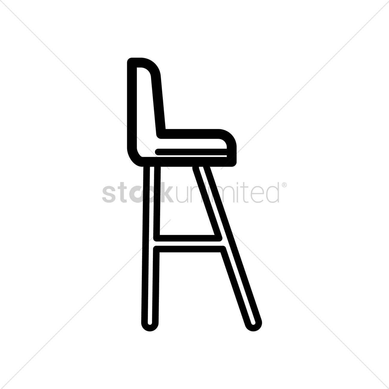 Tennis umpire chair Vector Image.