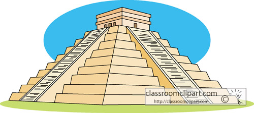 Aztec City Clipart.