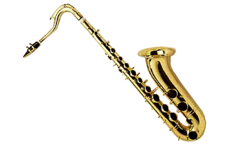 Tenor saxophone clipart.