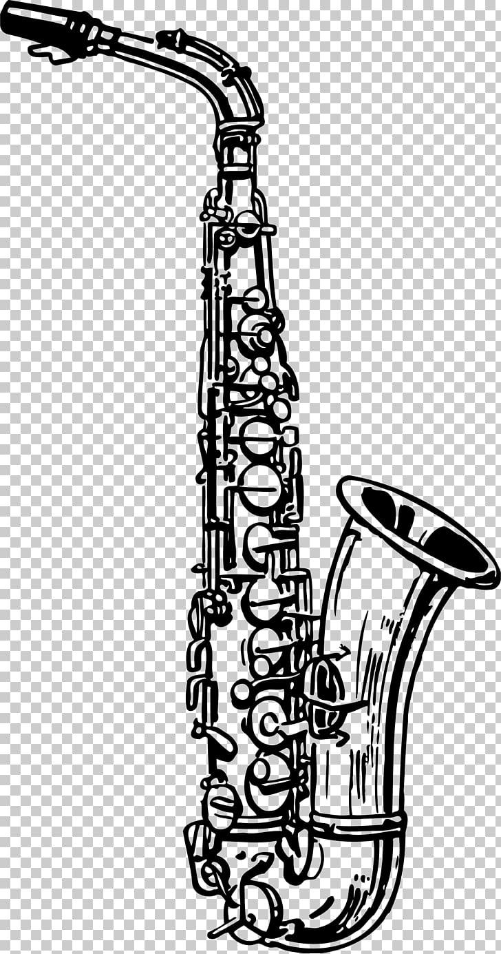 Tenor saxophone Drawing Clarinet Alto saxophone, saxophon.