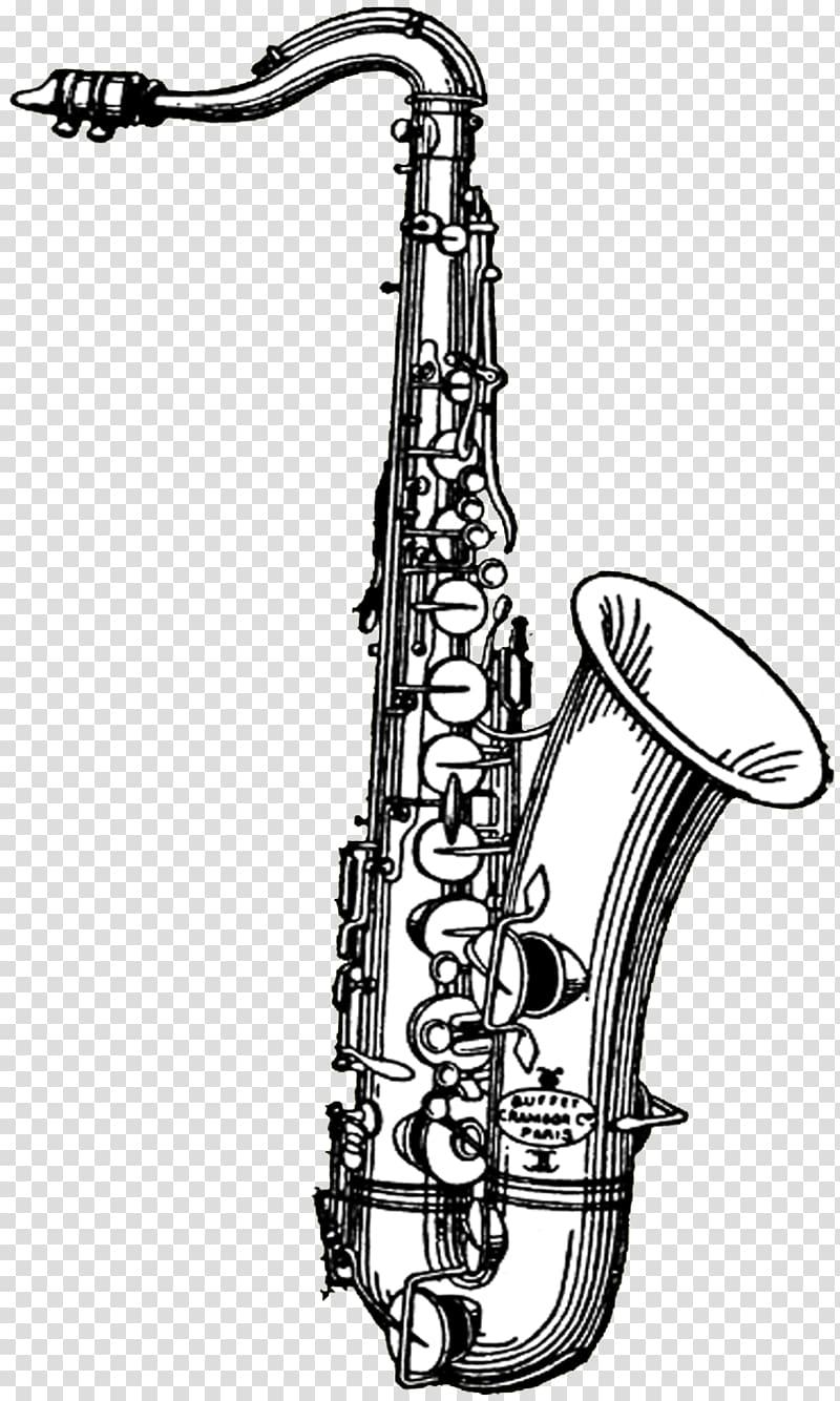 Tenor saxophone , Saxophone transparent background PNG.