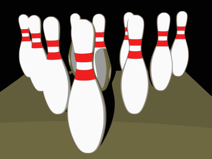 Bowling Tenpins Clipart, vector clip art online, royalty free.